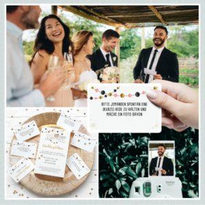 Fotoaufgaben für die Hochzeitsgäste